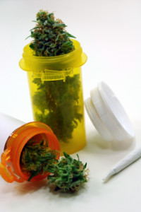 Image Of Medical Marijuana In Pill Bottles For Drug Defense Attorney - NOLA Criminal Law