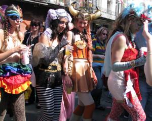 Image of Mardi Gras goers